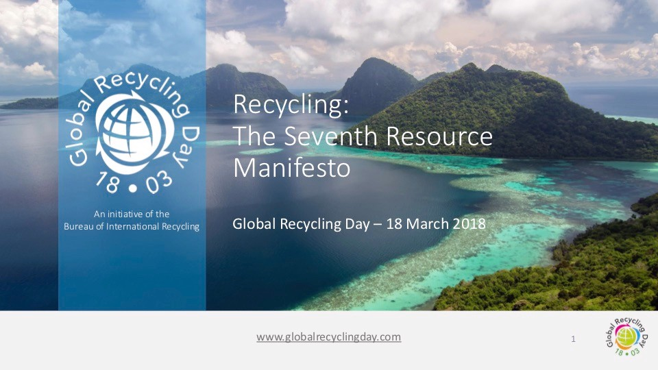 Recycling: The Seventh Resource Manifesto